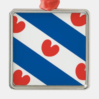 Flag of Friesland Christmas Ornament