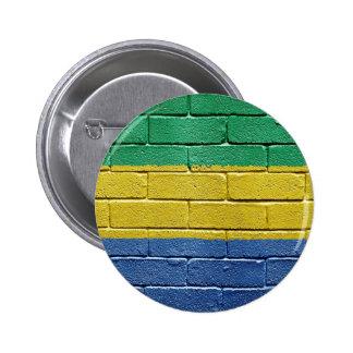 Flag of Gabon 6 Cm Round Badge