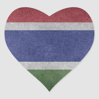 Flag of Gambia Heart Sticker