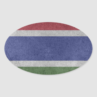 Flag of Gambia Oval Sticker