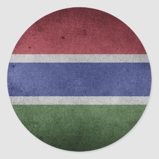 Flag of Gambia Round Sticker