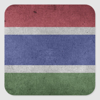 Flag of Gambia Square Sticker