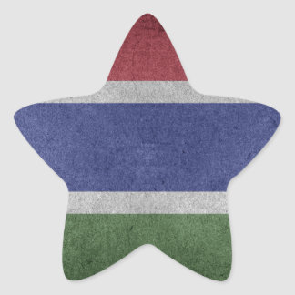 Flag of Gambia Star Sticker