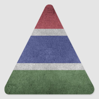 Flag of Gambia Triangle Sticker