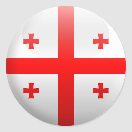 Flag of Georgia Classic Round Sticker