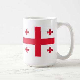 Flag of Georgia (Country) Basic White Mug