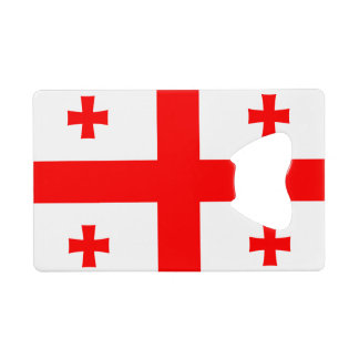 Flag of Georgia (country) CreditCard Bottle Opener