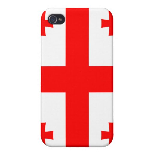 Flag of Georgia (country) iPhone 4 Case
