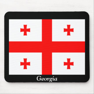 Flag of Georgia country Mouse Pads