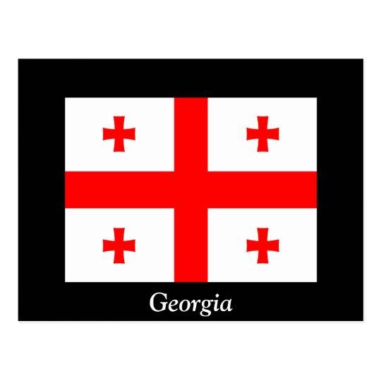 Flag of Georgia (country) Postcard
