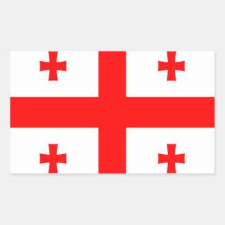 Flag of Georgia (country) Rectangular Sticker