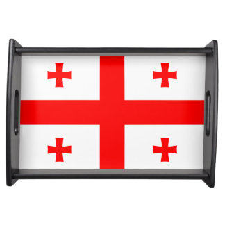 Flag of Georgia (country) Serving Tray