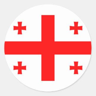 Flag of Georgia (country) Sticker