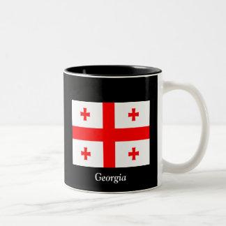 Flag of Georgia (country) Two-Tone Mug