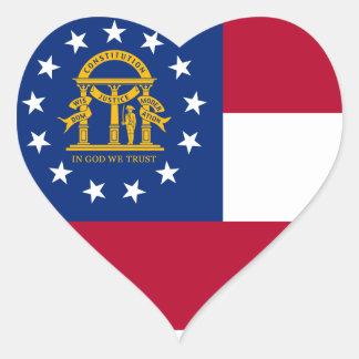 Flag of Georgia Heart Sticker