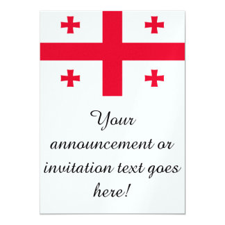 Flag of Georgia 13 Cm X 18 Cm Invitation Card