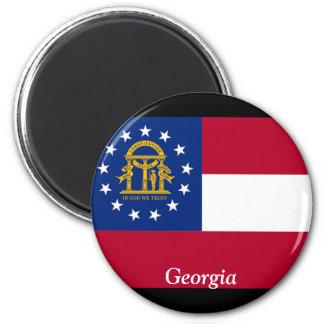 Flag of Georgia 6 Cm Round Magnet