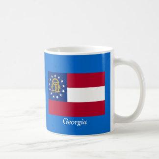 Flag of Georgia Basic White Mug