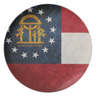 Flag of Georgia Party Plate