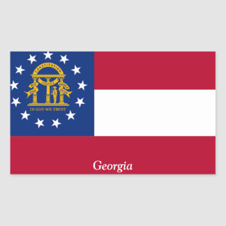 Flag of Georgia Rectangular Sticker