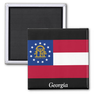 Flag of Georgia Square Magnet