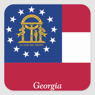 Flag of Georgia Square Stickers