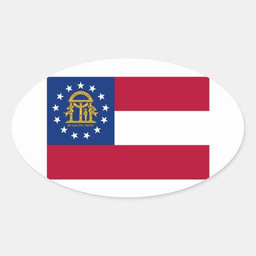 Flag of Georgia Stickers