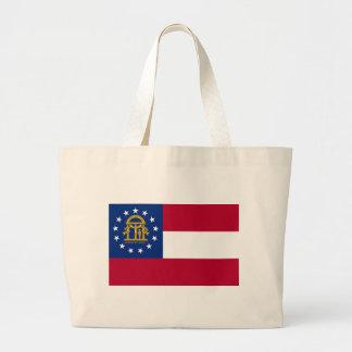 Flag of Georgia Jumbo Tote Bag