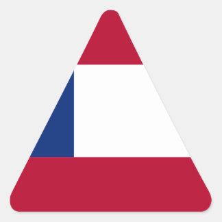 Flag of Georgia Triangle Sticker