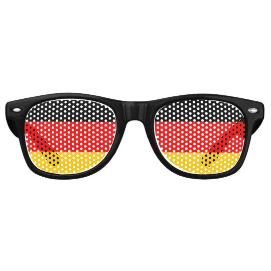 Flag of Germany, Fun German Flag Retro Sunglasses