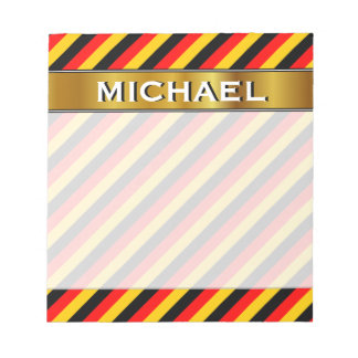 Flag of Germany Inspired Colored Stripes Pattern Notepad