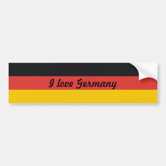 Flag of Germany or Deutschland Bumper Sticker
