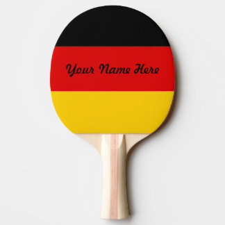 Flag of Germany or Deutschland Ping Pong Paddle