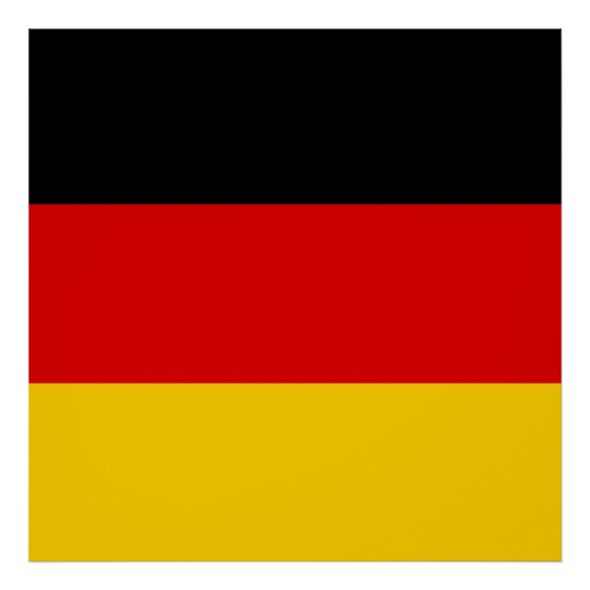 Flag of Germany or Deutschland Poster