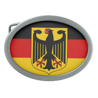 Flag of Germany with Crest Belt Buckle