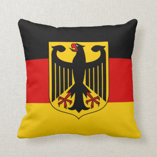 Flag of Germany With Crest Pillow