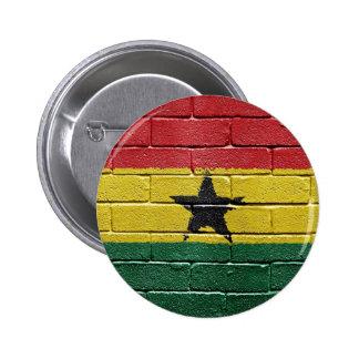 Flag of Ghana 6 Cm Round Badge