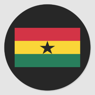 Flag of Ghana Classic Round Sticker