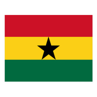 Flag of Ghana Postcard