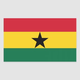 Flag of Ghana Rectangular Sticker