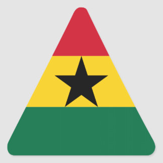 Flag of Ghana Triangle Sticker