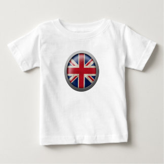 Flag of Great Britain Disc Baby T-Shirt