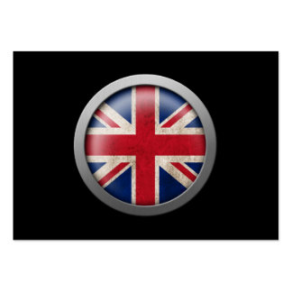 Flag of Great Britain Disc Business Card Template