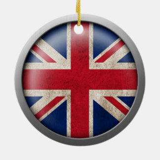 Flag of Great Britain Disc Christmas Tree Ornaments