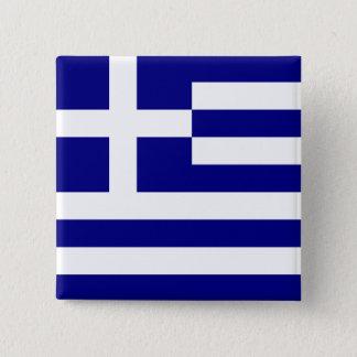 Flag of Greece 15 Cm Square Badge