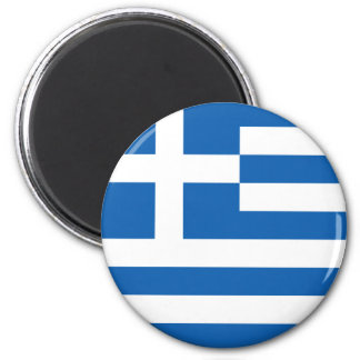 Flag of Greece 6 Cm Round Magnet
