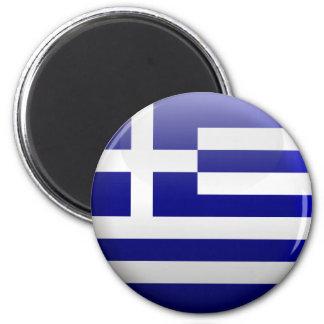 Flag of Greece 6 Cm Round Magnet