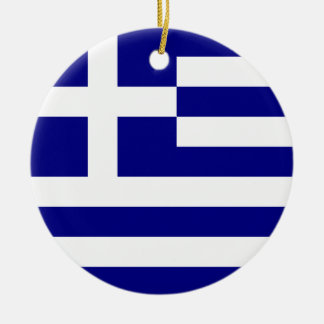 Flag of Greece Christmas Ornament