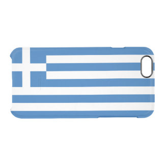 Flag of Greece Clear iPhone Case