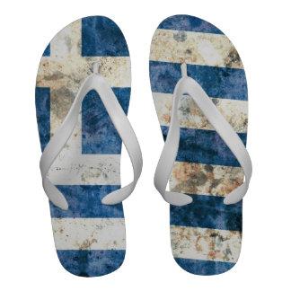 Flag of Greece Flip-Flops